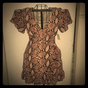 NWT Bold Snakeskin Print Dress